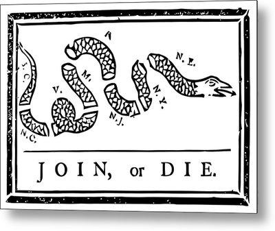 Join Or Die Metal Print by War Is Hell Store