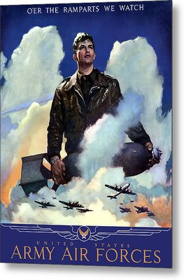 Join The Army Air Forces Metal Print by War Is Hell Store