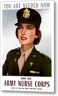 Join The Army Nurse Corps Metal Print by War Is Hell Store