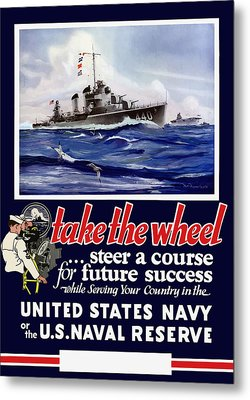 Join The Us Navy - Ww2 Metal Print by War Is Hell Store