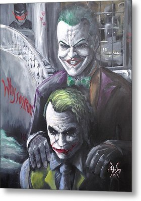 Jokery In Wayne Manor Metal Print by Tyler Haddox
