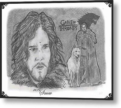 Jon Snow Metal Print by Chris  DelVecchio