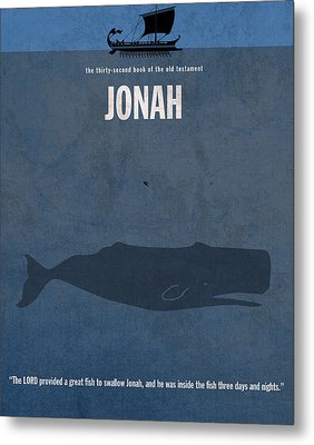 Jonah Books Of The Bible Series Old Testament Minimal Poster Art Number 32 Metal Print by Design Turnpike