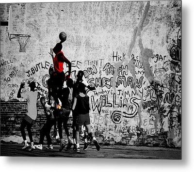 Jordan On The Playground Metal Print by Brian Reaves