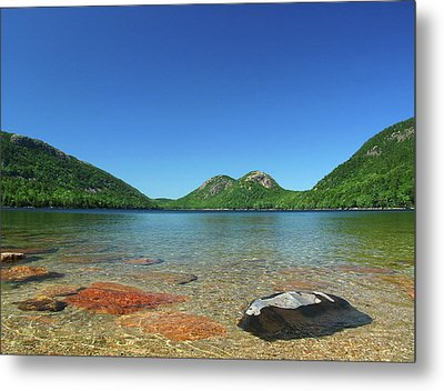 Jordan Pond And The Bubbles Metal Print by Juergen Roth