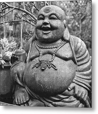 Joyful Lord Buddha Metal Print by Karon Melillo DeVega