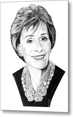 Judge Judith Sheindlin Metal Print by Murphy Elliott