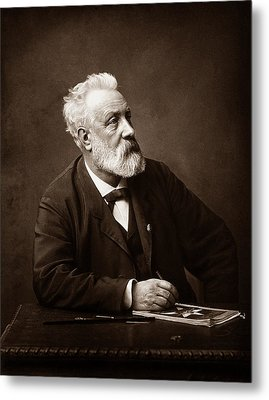 Jules Verne - Father Of Science Fiction Metal Print by War Is Hell Store