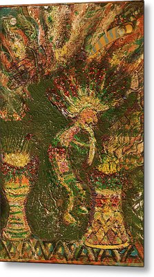 Jumpinjack Flash Kokopelli Metal Print by Anne-Elizabeth Whiteway