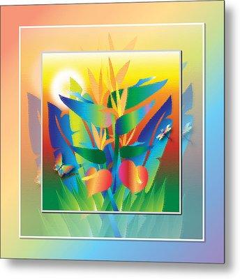 Jungle Sunset Metal Print by Jack Potter