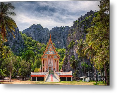 Jungle Temple Metal Print by Adrian Evans
