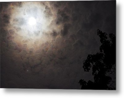 Jupiter And The Moon Metal Print by Don Youngclaus