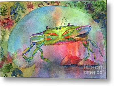 Just A Little Crabby Metal Print by Amy Kirkpatrick