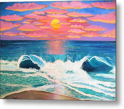 Just Another Red Sky Day Metal Print by Just Joszie