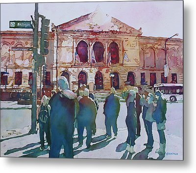 Just Before The Museum Opens Metal Print by Jenny Armitage