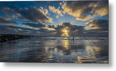 Just Her And Me Metal Print by Peter Tellone