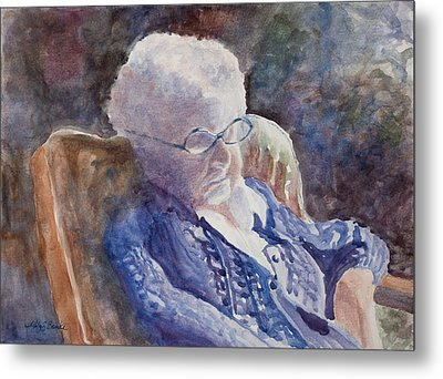 Just Resting My Eyes Metal Print by Mary Benke