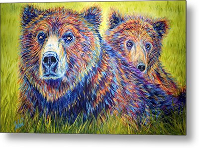 Just The Two Of Us Metal Print by Teshia Art