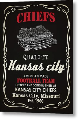 Kansas City Chiefs Whiskey Metal Print by Joe Hamilton