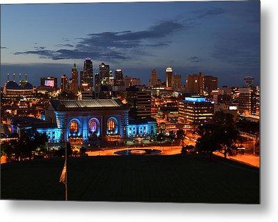 Kansas City Skyline 2016 Metal Print by Shelley Wood