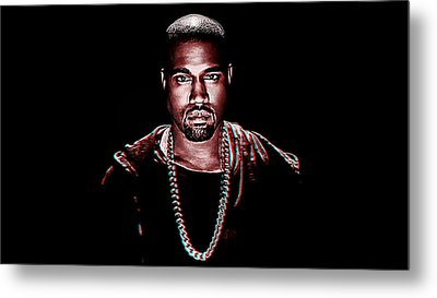 Kanye West Metal Print by Iguanna Espinosa