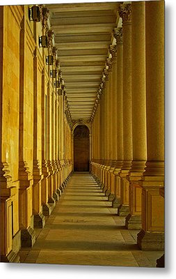 Karlovy Vary Colonnade Metal Print by Juergen Weiss