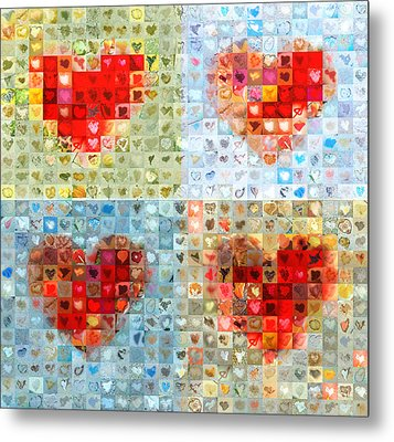 Katrina's Heart Wall - Custom Design Created For Extreme Makeover Home Edition On Abc Metal Print by Boy Sees Hearts