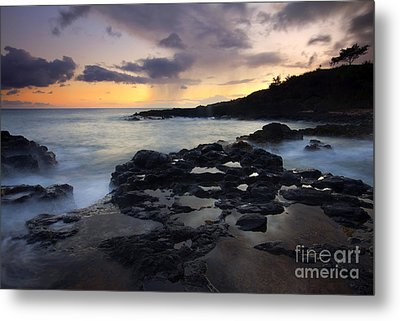 Kauai Storm Passing Metal Print by Mike  Dawson