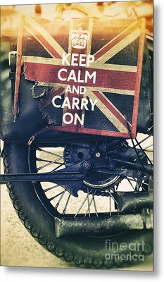 Keep Calm And Carry On Metal Print by Tim Gainey