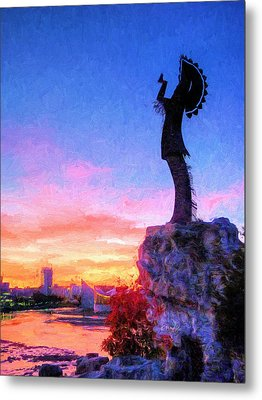 Keeper Of The Plains Metal Print by JC Findley