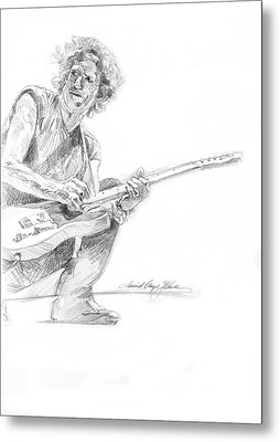 Keith Richards  Fender Telecaster Metal Print by David Lloyd Glover