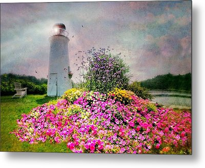 Kennebunkport Lighthouse Metal Print by Diana Angstadt