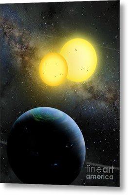 Kepler-35 Metal Print by Lynette Cook