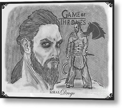 Khal Drogo -dothraki Warlord Metal Print by Chris  DelVecchio