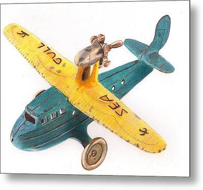 Kilgore Sea Gull Airplane Metal Print by Glenda Zuckerman