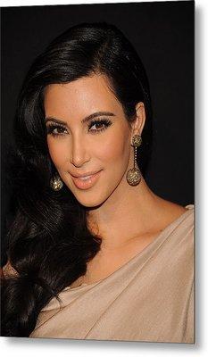 Kim Kardashian In Attendance Metal Print by Everett