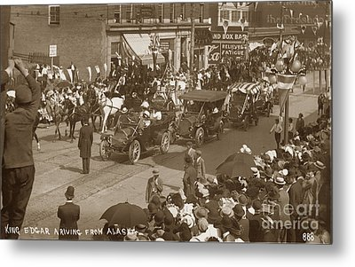King Edgar Ariving From Alaska In Seattle Circa 1911 Metal Print by California Views Mr Pat Hathaway Archives