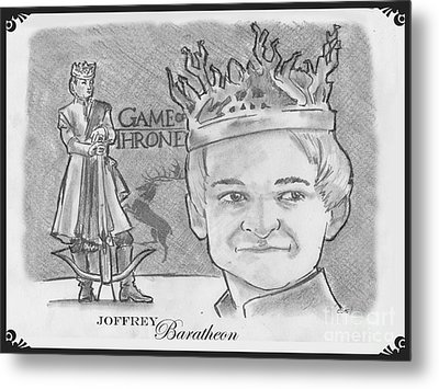 King Joffrey Baratheon Metal Print by Chris  DelVecchio