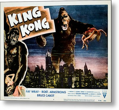 King Kong, Fay Wray, 1933 Metal Print by Everett