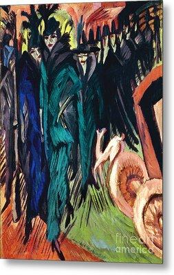Kirchner: Street Scene Metal Print by Granger