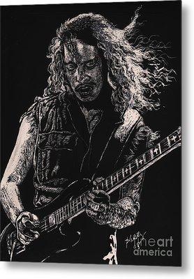 Kirk Hammett Metal Print by Kathleen Kelly Thompson