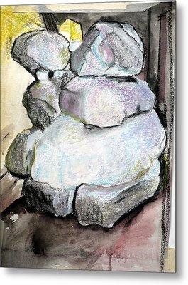 Kissing Rocks Metal Print by Jane Clatworthy