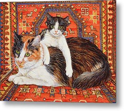 Kit Cat Carpet Metal Print by Ditz