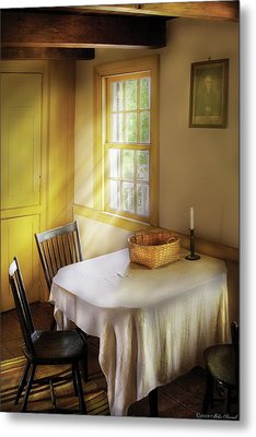 Kitchen - The Empty Basket Metal Print by Mike Savad