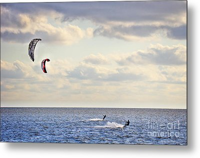 Kitesurfing Metal Print by Angela Doelling AD DESIGN Photo and PhotoArt