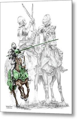 Knight Time - Renaissance Medieval Print Color Tinted Metal Print by Kelli Swan
