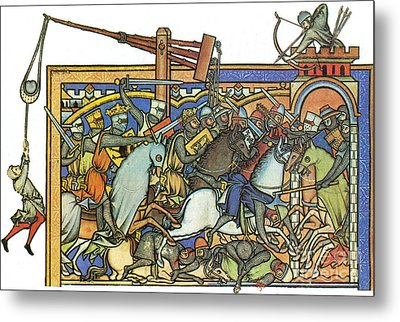 Knights Templar 13th Century Metal Print by Photo Researchers
