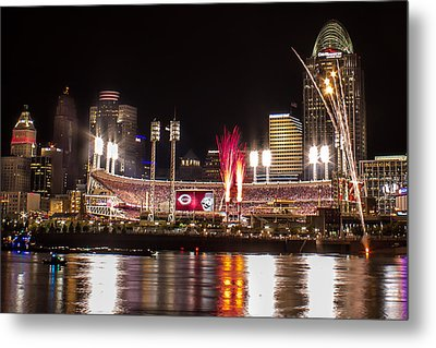 Knocking It Out Of The Park Metal Print by James Patterson