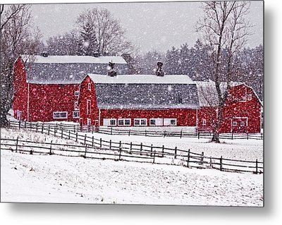 Knox Farm Snowfall Metal Print by Don Nieman