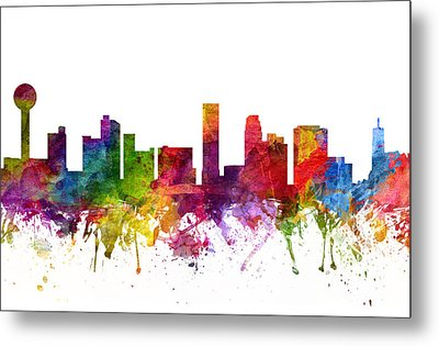 Knoxville Cityscape 06 Metal Print by Aged Pixel